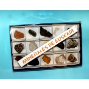 Estuche 15 minerales por autonomías (Euskadi)
